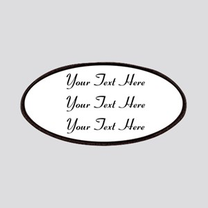 Customizable Personalized (Black Text) Patch